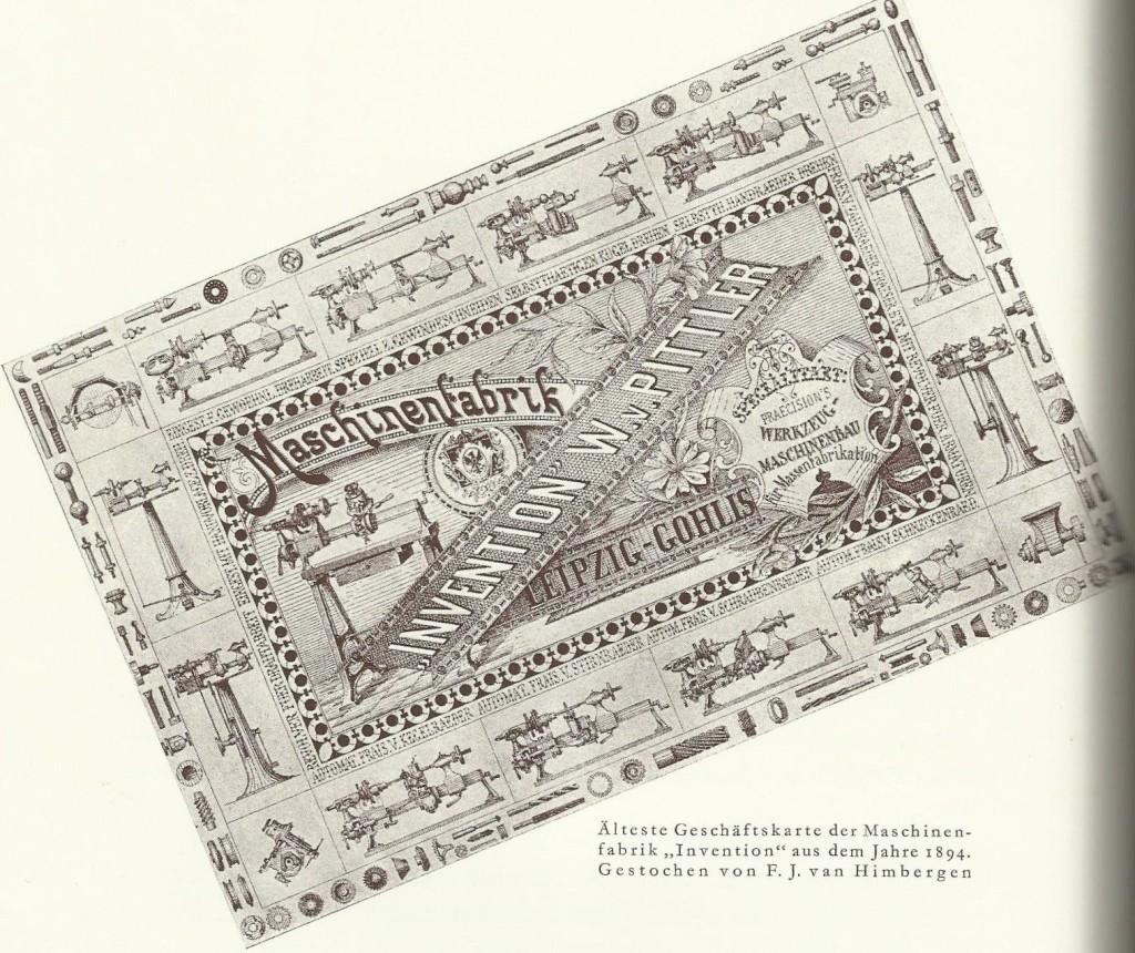 erste Geschäftskarte, von Franz gezeichnet