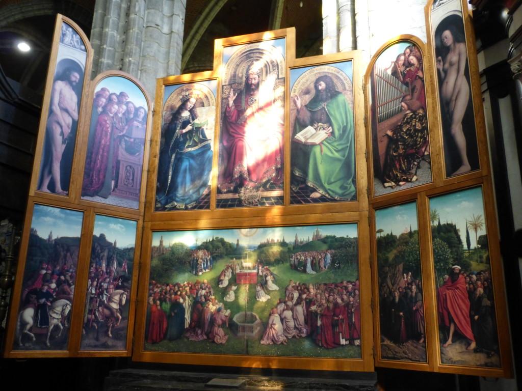 Kopie des Genther Altars mit der Anbetung des Lamm Gottes