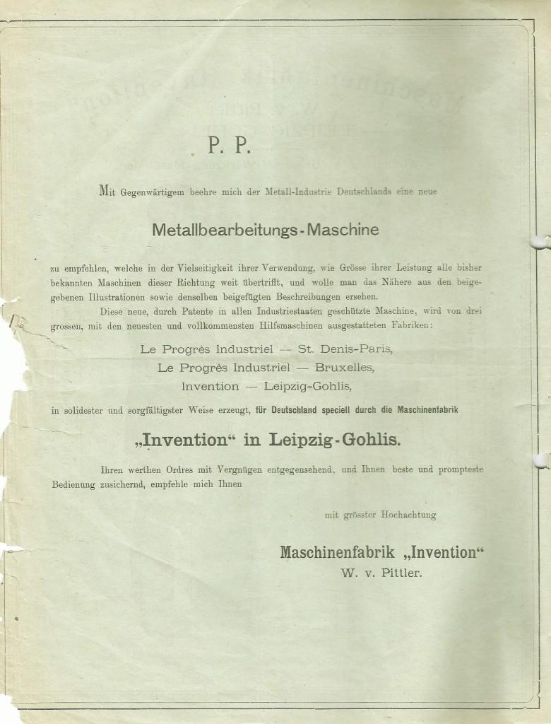 Maschinenfabrik Invention 0002