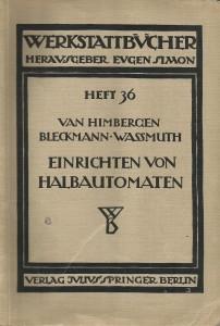 Werkstattbücher Heft 36