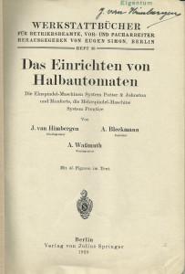 Werkstattbücher Heft 360002