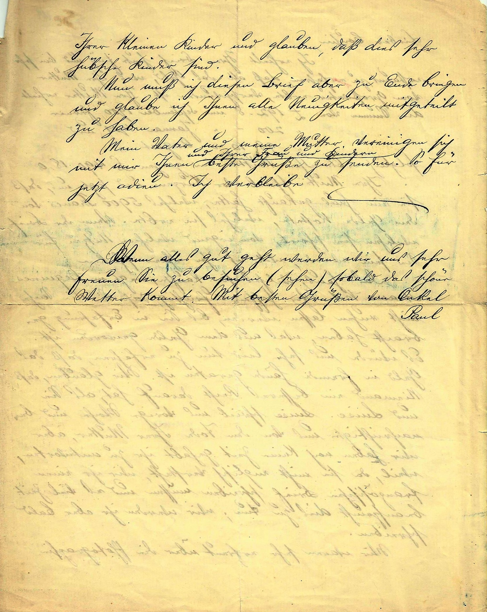 verabschiedung englischer brief