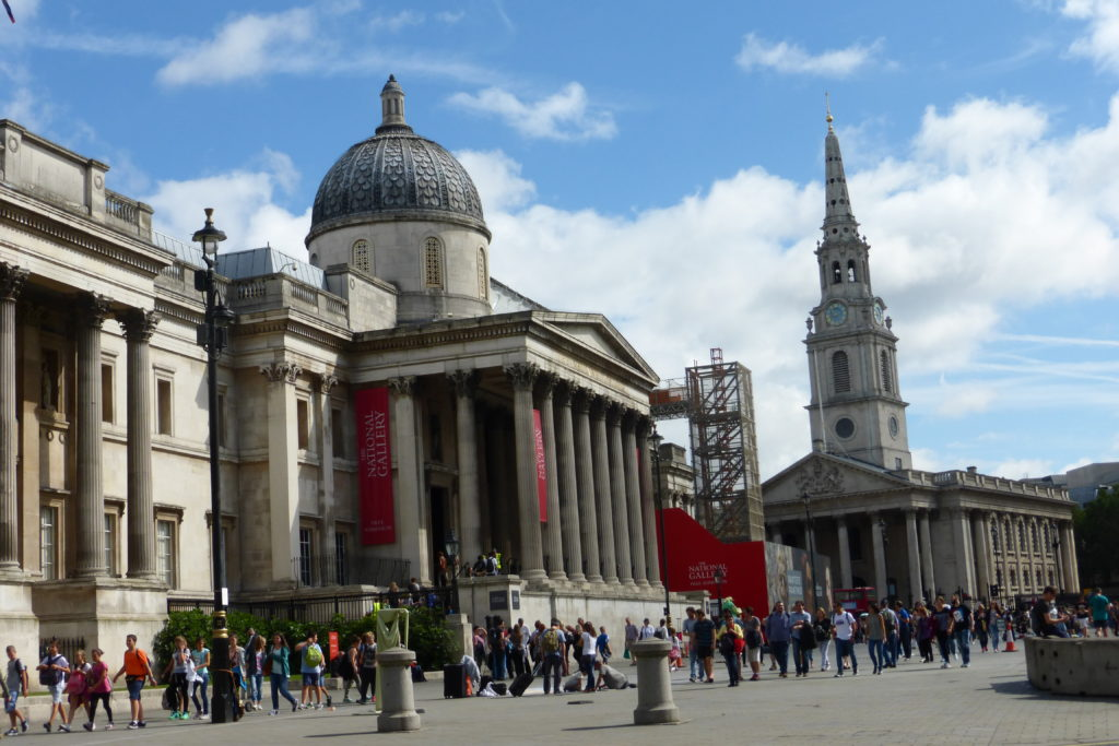 National Gallery und die Kirche St. Martin-in-the-Fields