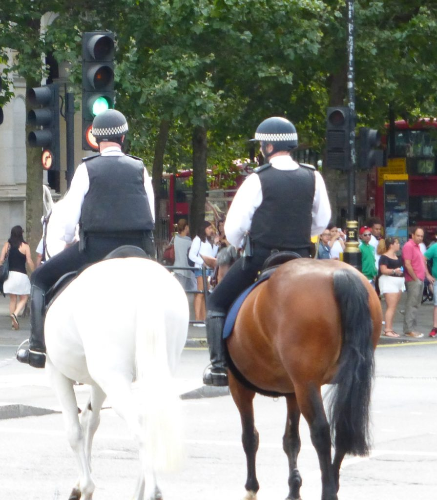 berittene Polizei, immer wieder ein Hingucker